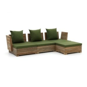 ROUGH-B chaise longue loungeset 4-delig