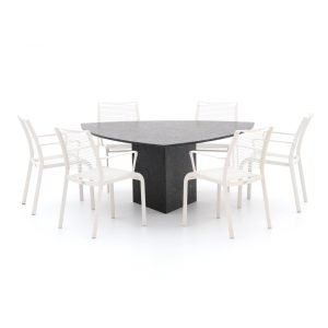 Apple Bee Hawaii/Bernstein 170cm dining tuinset 7-delig stapelbaar