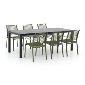 Apple Bee Hawaii/Menzano 220cm dining tuinset 7-delig stapelbaar