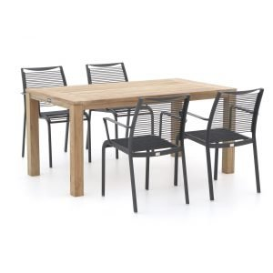 Apple Bee Hawaii/ROUGH-S 160cm dining tuinset 5-delig stapelbaar