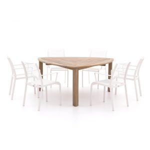 Apple Bee Hawaii/ROUGH-S 170 cm dining tuinset 7-delig stapelbaar