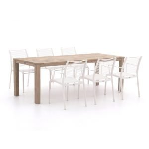 Apple Bee Hawaii/ROUGH-S 220cm dining tuinset 7-delig stapelbaar