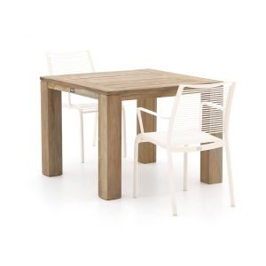 Apple Bee Hawaii/ROUGH-X 100cm dining tuinset 3-delig stapelbaar