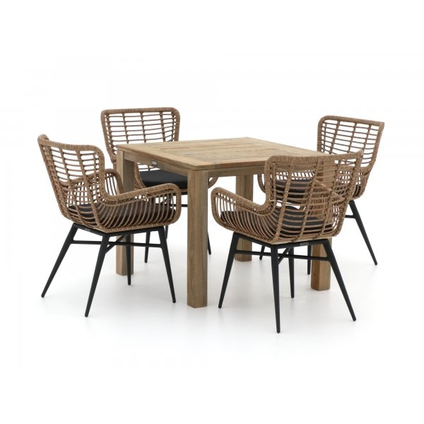 Intenso Asti/ROUGH-S 90cm dining tuinset 5-delig