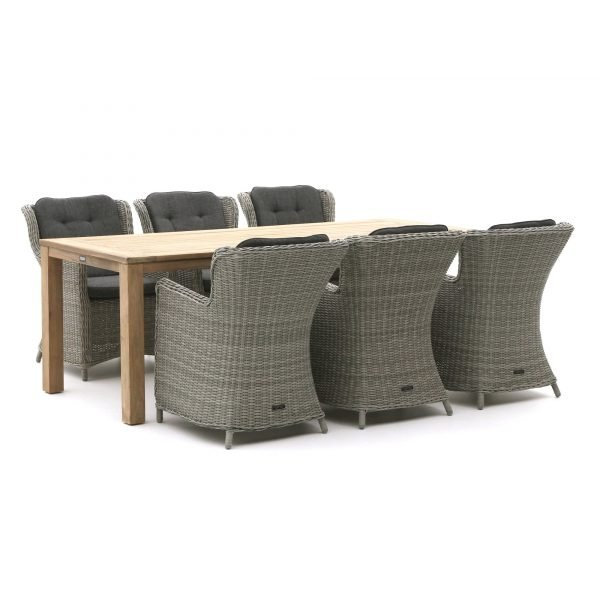 Intenso Milano/ROUGH-S 220cm dining tuinset 7-delig