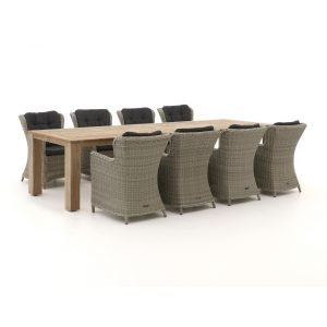 Intenso Milano/ROUGH-X 320cm dining tuinset 9-delig