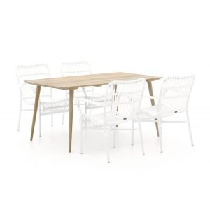 Intenso Parma/ROUGH-K 160cm dining tuinset 5-delig