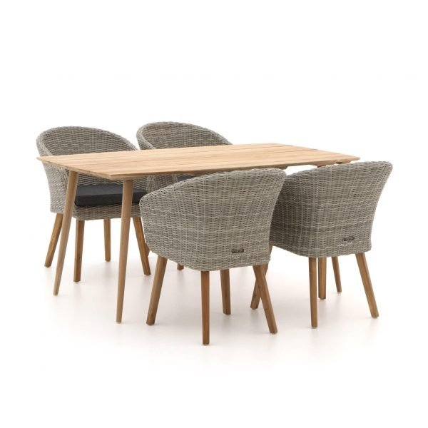 Intenso Tropea/ROUGH-K 160cm dining tuinset 5-delig