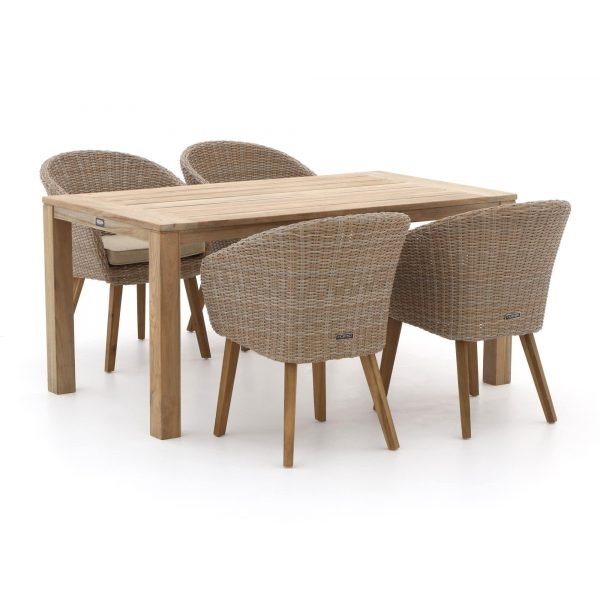 Intenso Tropea/ROUGH-S 160cm dining tuinset 5-delig