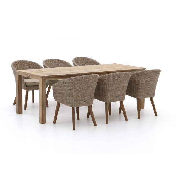 Intenso Tropea/ROUGH-S 220cm dining tuinset 7-delig