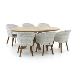 Intenso Tropea/ROUGH-Y Ellips 200cm dining tuinset 7-delig