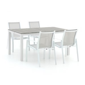 R&S Design Altea/Fidenza 160cm dining tuinset 5-delig stapelbaar