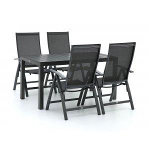 Bellagio Elegance/Fidenza 145cm dining tuinset 5-delig verstelbaar