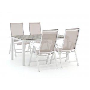 Bellagio Elegance/Fidenza 160cm dining tuinset 5-delig verstelbaar
