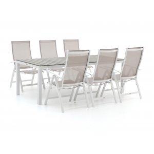 Bellagio Elegance/Fidenza 220cm dining tuinset 7-delig verstelbaar