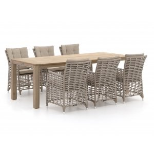Manifesto Ortello/ROUGH-S 220cm dining tuinset 7-delig