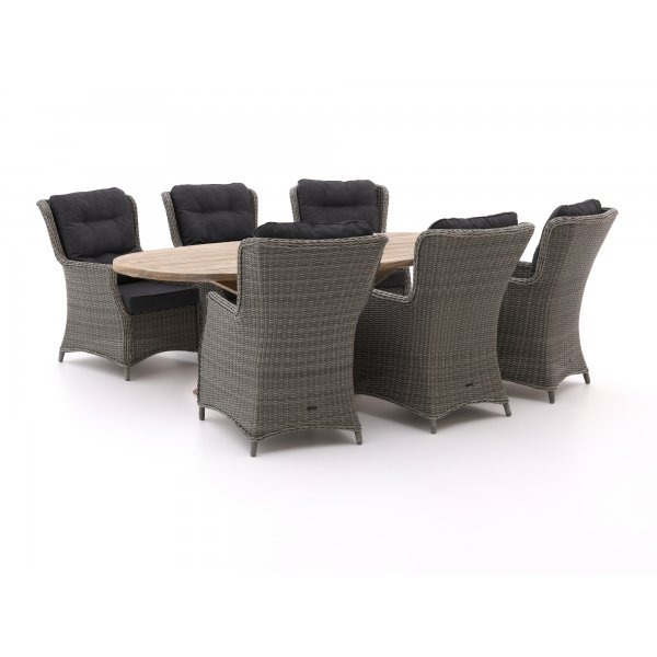 Intenso Milano/ROUGH-Y Ellips 240cm lounge-dining tuinset 7-delig