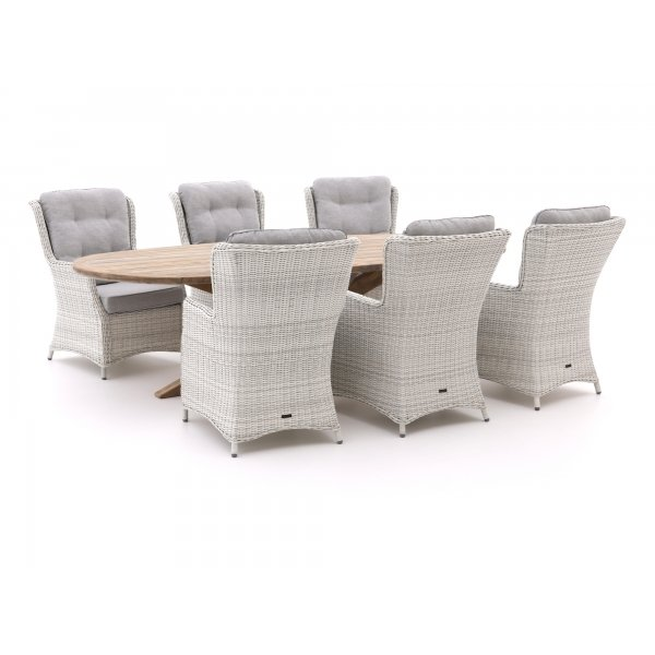 Intenso Milano/ROUGH-Y Ellips 280cm lounge-dining tuinset 7-delig