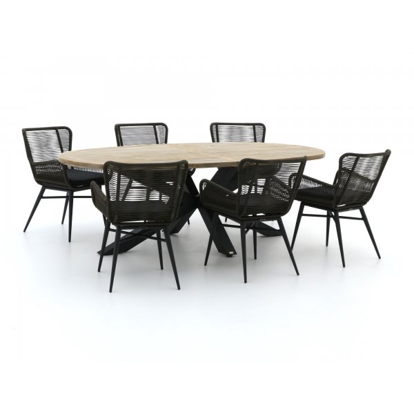 Intenso Variano/Induno Ellips 240cm dining tuinset 7-delig