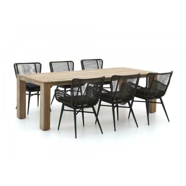 Intenso Variano/ROUGH-X 240cm dining tuinset 7-delig