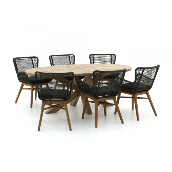 Intenso Variano/ROUGH-Y Ellips 200cm dining tuinset 7-delig