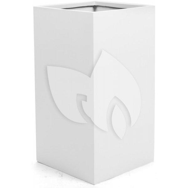 Argento plantenbak High Cube L glanzend wit