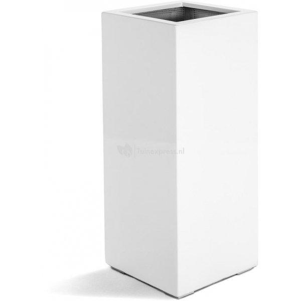 Argento plantenbak High Cube M glanzend wit