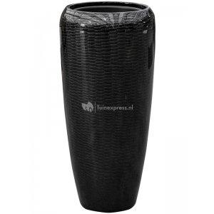 BAQ Amfi pot high 34x34x75 cm Black bloempot binnen