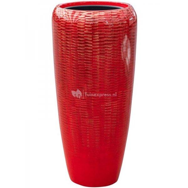 BAQ Amfi pot high 34x34x75 cm Red bloempot binnen