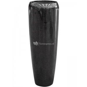 BAQ Amfi pot high tall 34x34x97 cm Black bloempot binnen