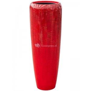 BAQ Amfi pot high tall 34x34x97 cm Red bloempot binnen