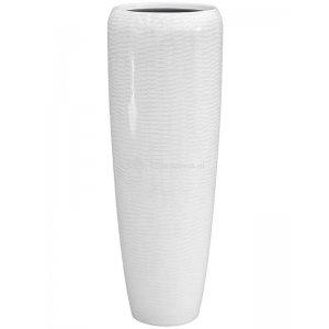 BAQ Amfi pot high tall 34x34x97 cm White bloempot binnen
