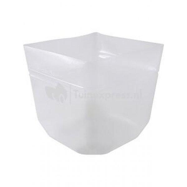 BAQ Inzethoes vierkant 32x32x30 cm transparant