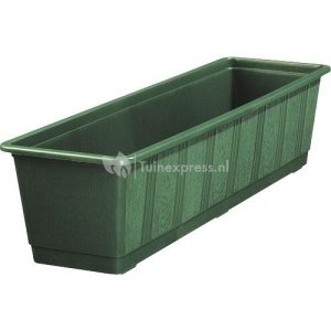 Balkonbak standaard donker groen - Balkonbak donker groen 60 cm