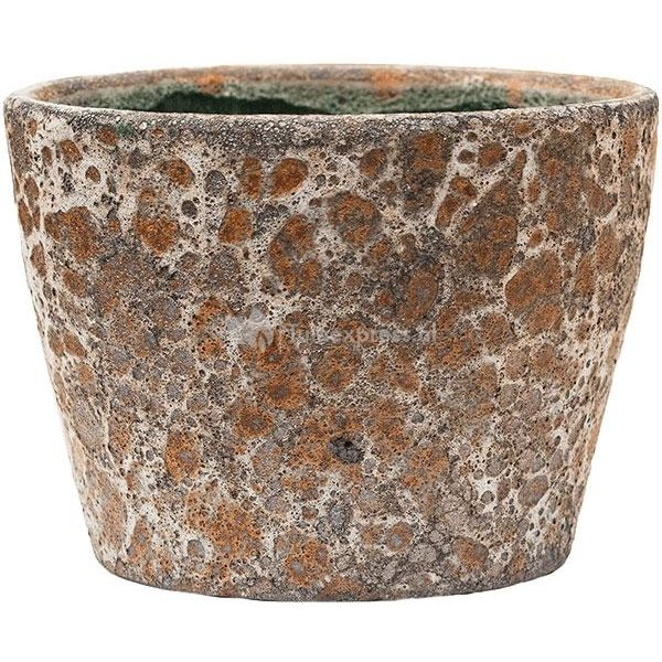Baq Lava Couple straight S 19x19x13 cm Relic Rust Metal bloempot binnen
