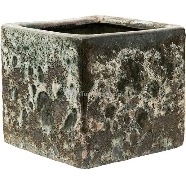 Baq Lava Cube M 20x20x20 cm Relic Jade bloempot binnen