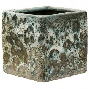 Baq Lava Cube S 16x16x16 cm Relic Jade bloempot binnen