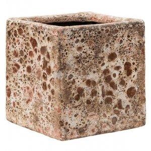 Baq Lava Cube S 16x16x16 cm Relic Pink bloempot binnen
