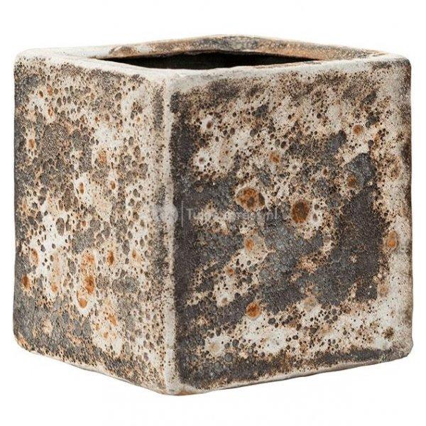 Baq Lava Cube S 16x16x16 cm Relic Rust Metal bloempot binnen