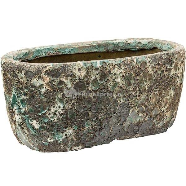Baq Lava Oval S 31x18x15 cm Relic Jade bloempot binnen