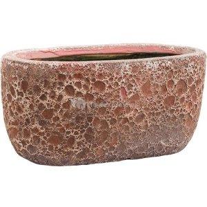 Baq Lava Oval S 31x18x15 cm Relic Pink bloempot binnen