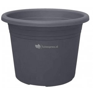 Bloempot Cylindro antraciet - Ø 25 cm – 5