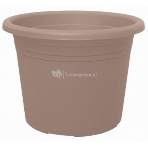 Bloempot Cylindro taupe - Ø 60 cm – 72 liter