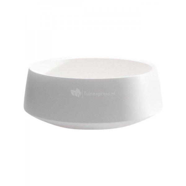Bowl Fusion White lage ronde bloempot voor binnen 33x13 cm wit