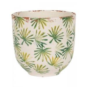 Bowl Grenada Light Green M 18x19 cm lichtgroene palm ronde bloempot voor binnen