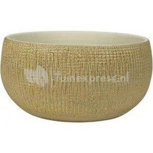 Bowl Ryan shiny sand bloempot binnen 26 cm