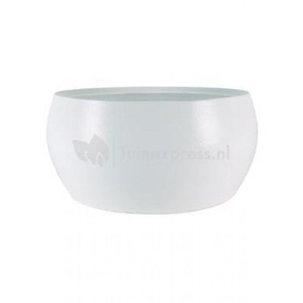Bowl cresta pure white bloempot binnen 28 cm