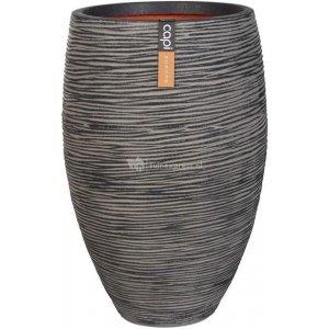 Capi Nature Rib NL vase elegant luxe L 45x45x72cm Antraciet bloempot