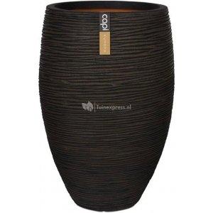 Capi Nature Rib NL vase elegant luxe L 45x45x72cm Bruin bloempot