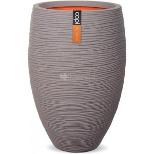 Capi Nature Rib NL vase elegant luxe L 45x45x72cm Grijs bloempot
